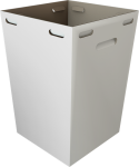 19x19x31 White Cardboard Bin- For Large Events