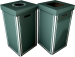 Country Club Green Cardboard Bin + Lid