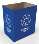 "Blue ""Recycle Only"" Desk Side Bin"